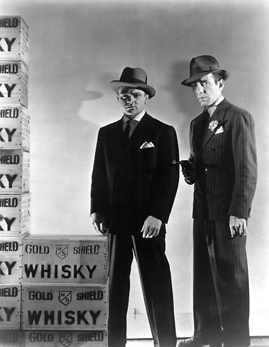 James Cagney and Humphrey Bogart in a publicity shot for The Roaring Twenties (1939)