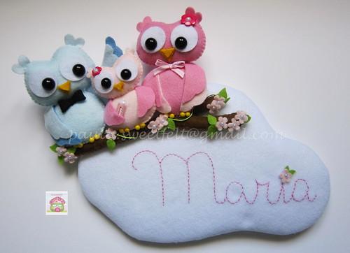 ♥♥♥ Uma família muito coruja para a Maria... by sweetfelt \ ideias em feltro