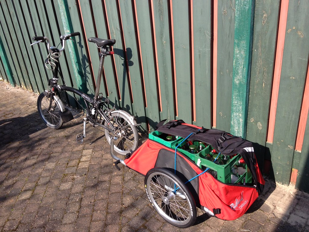 Brompton in freighter mode.