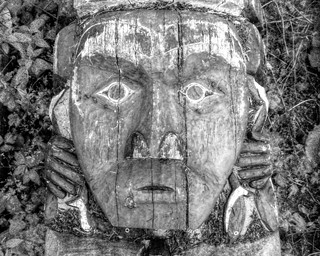 First Nations Totem Carving: Digital HDR (from single jpg) - Kodak Easyshare Z980