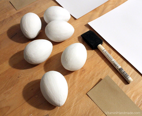 DIY Traditionally Marbled Paper Mache Eggs