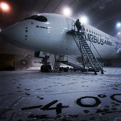 Airbus A350 - Testing in the cold -40 degrees Celsius  #a350 #airbus #aircraft