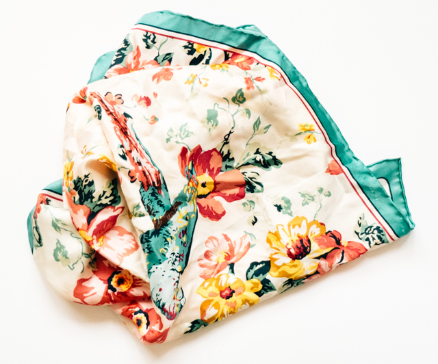 floral joules scarf