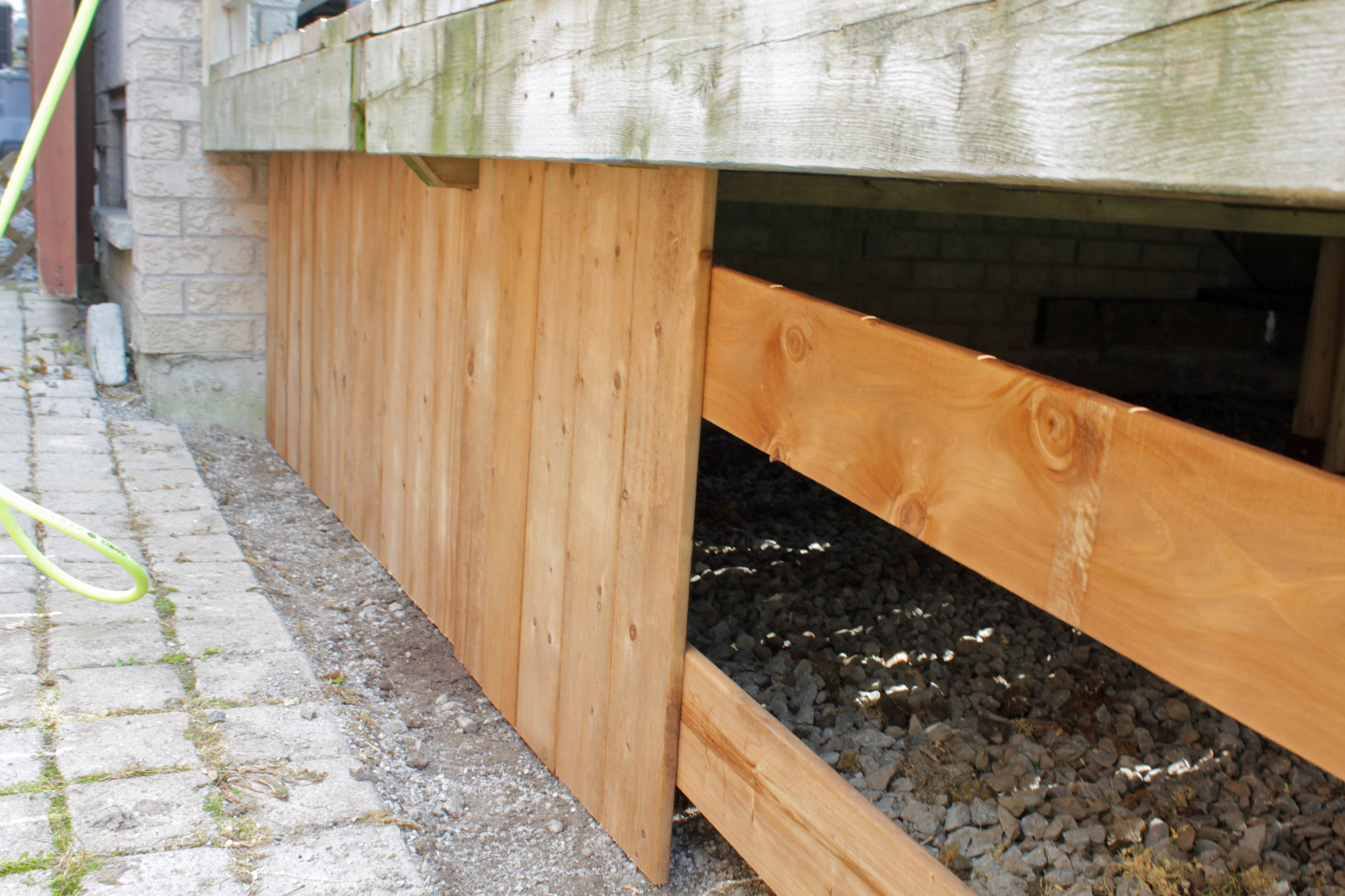 Turtles And Tails Under Deck Enclosure With Access Door
