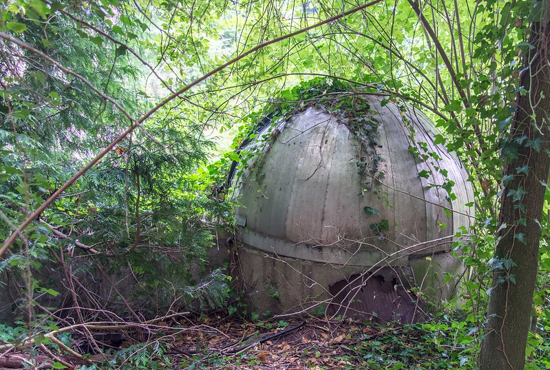 Abandoned observatory in Pfaffenthal, Luxembourg City.