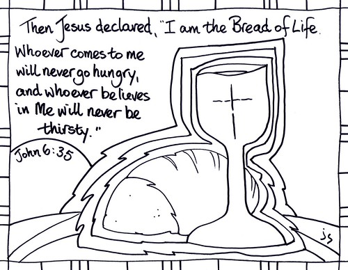 Church Bulletin Cover Ordinary 18B Bread Of Life By Stushie And