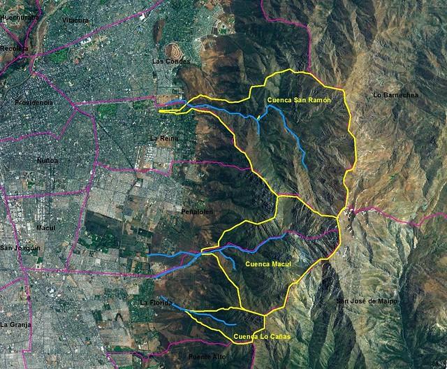Principales zonas susceptibles de remociones en masa en la región Metropolitana