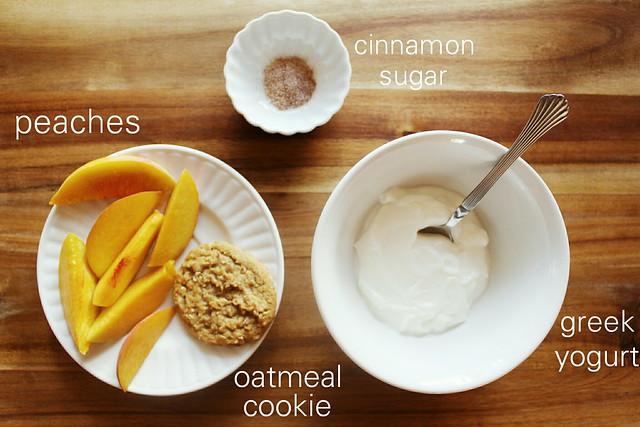 greek yogurt 52 ways: # 22 cinnamon peaches with cookies