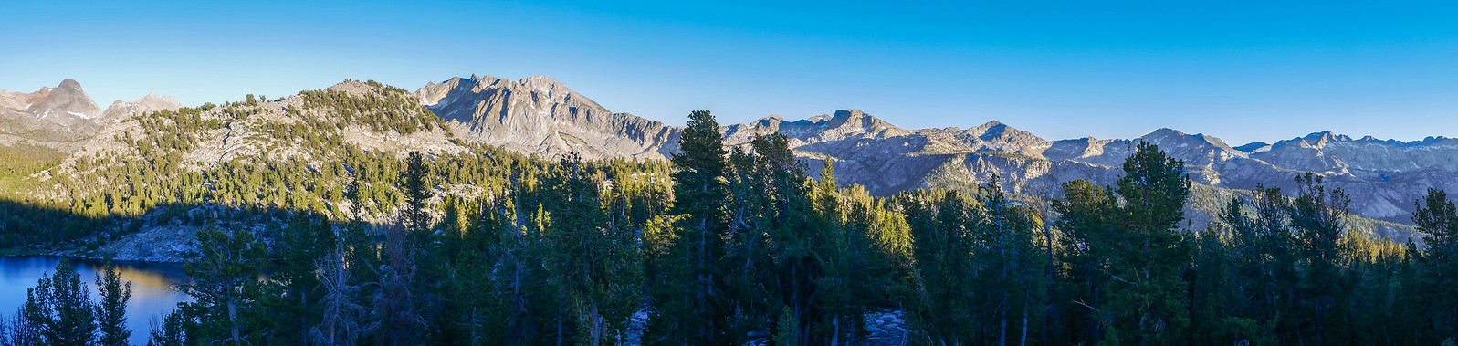 Sunset view on the Silver Divide