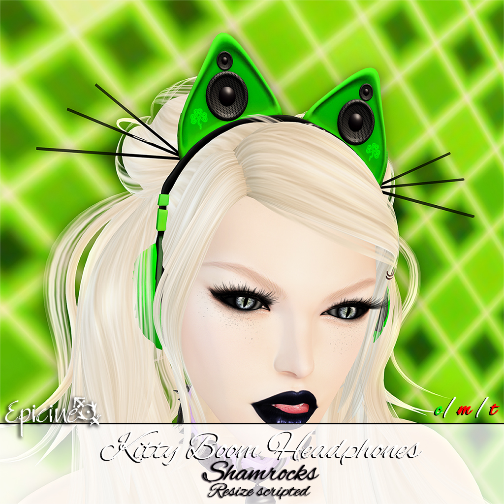 Epicine - Kitty Boom Headphones - Shamrock - SecondLifeHub.com
