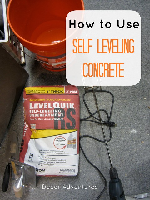 How to use self leveling concrete decor adventures