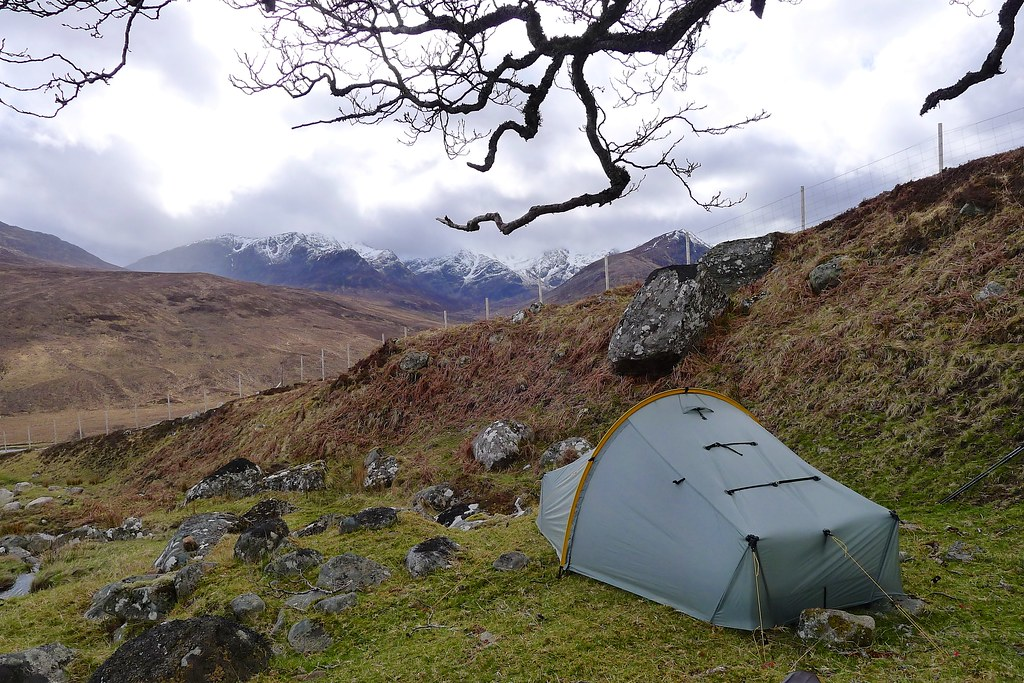 Wild camping above Coire Doe