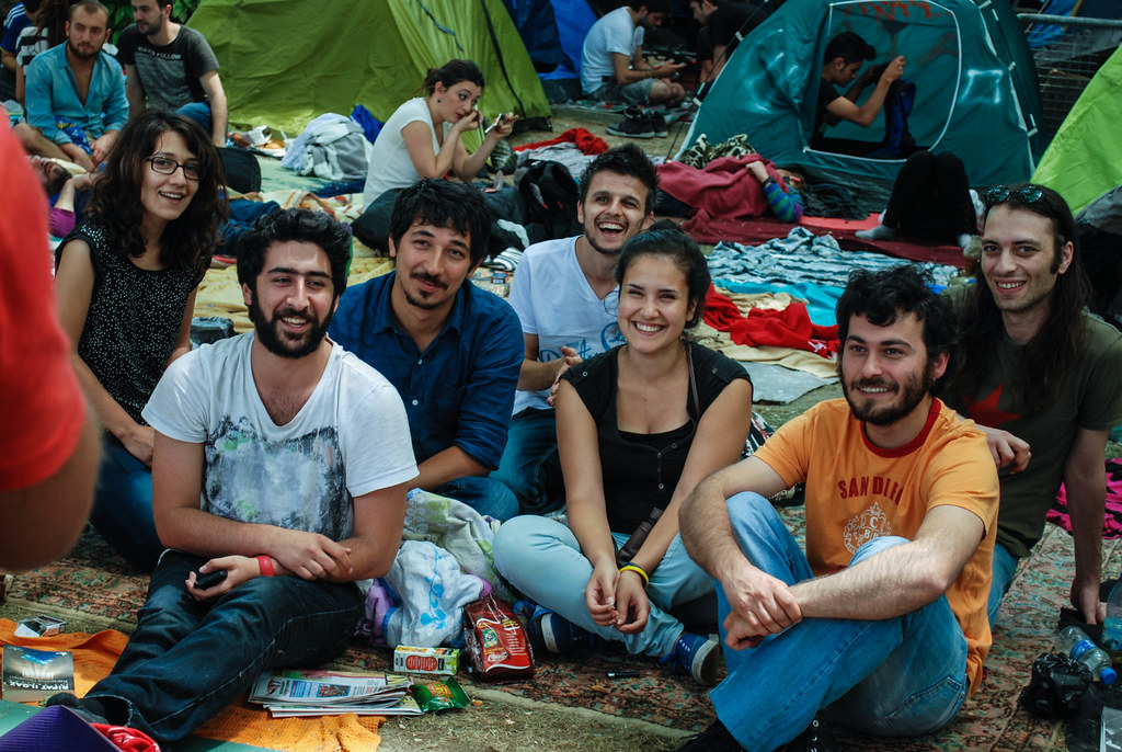 Protesters occupying Gezi Park in Istanbul, Turkey, on June 8, 2013.  Photo by Ian Usher. http://www.flickr.com/photos/ush/9013700791/