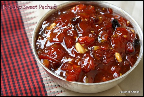 Traditional tamil brahmin recipes authentic tamil brahmin tomato sweet pachadi forumfinder Choice Image