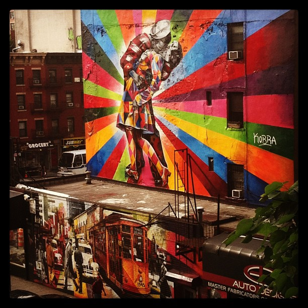 Street #art off of 10th Ave #thehighline #nyc #newyork #mural