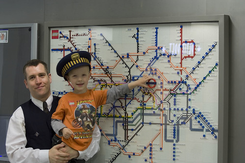 Tube map made from Lego