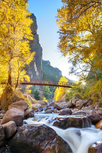 bridge autumn sunset favorite mountains evening colorado unitedstates boulder sunburst creeks waterscapes southbouldercreek eldoradocanyonstatepark