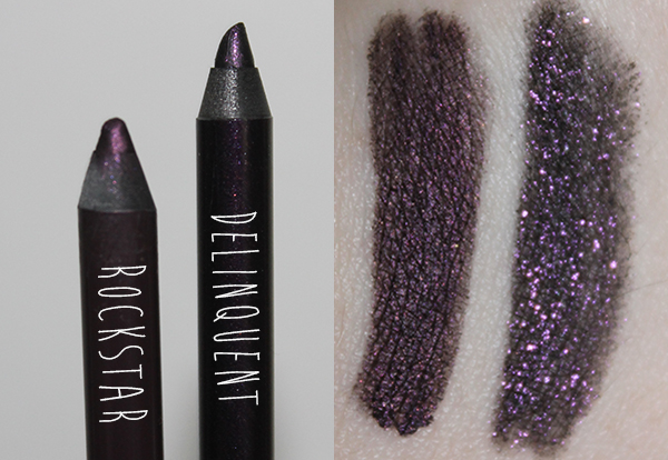 A review of the Urban Decay 24/7 Glide-On Eye Pencils in Rockstar and Delinquent