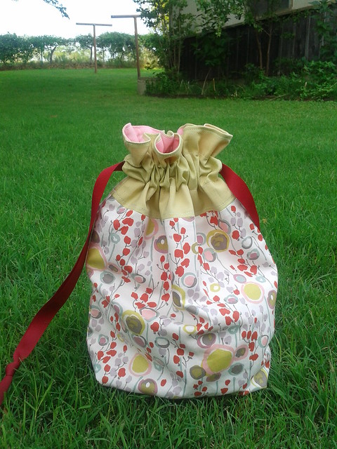 Red Flower Bag