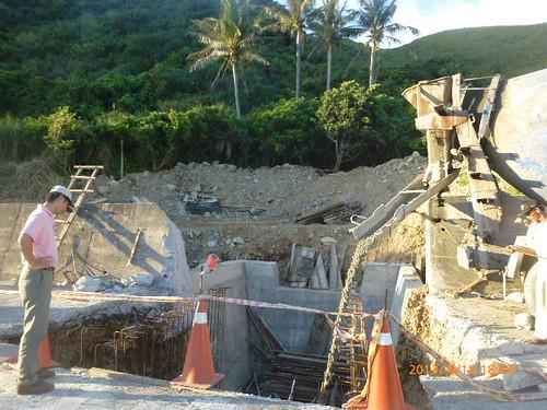椰油虎頭坡野溪整治工程化。徐嬋娟攝。