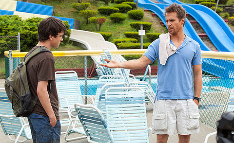 Liam James and Sam Rockwell go THE WAY, WAY BACK.
