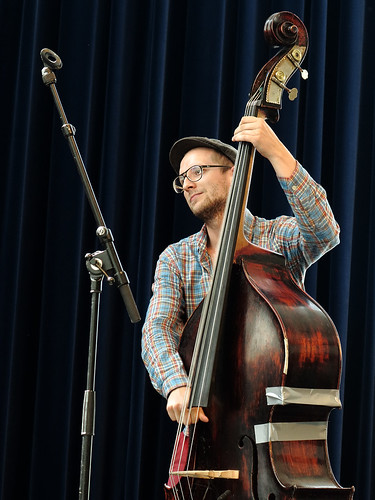 Double bass with gaffatape