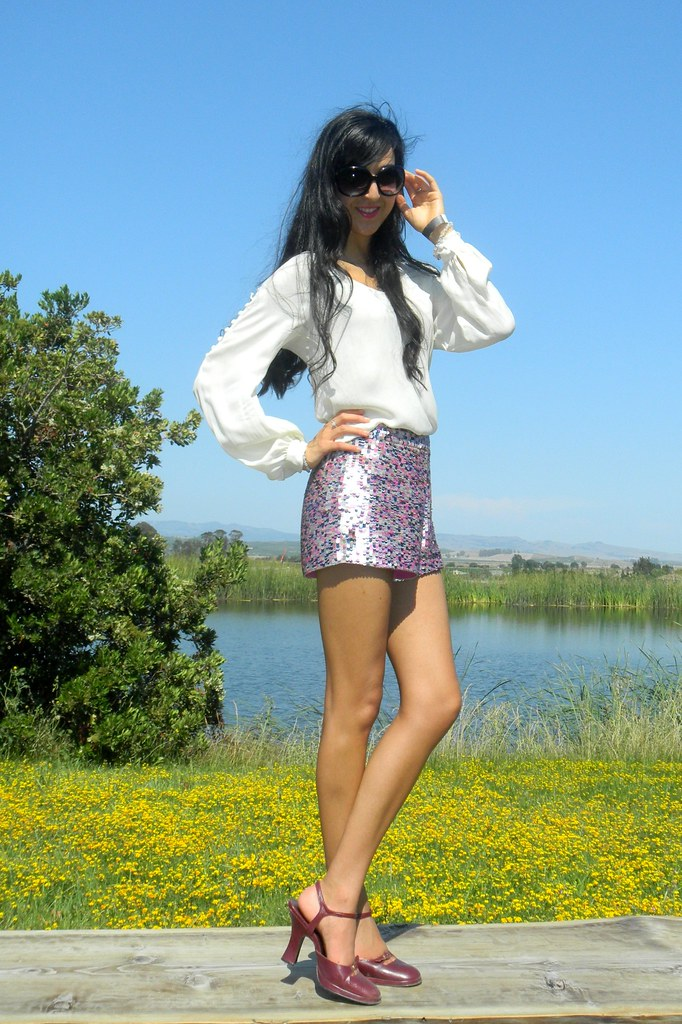 Sequin shorts_1