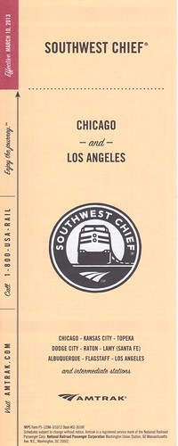 Amtrak Southwest Chief 2013 Cover