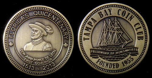 Florida Quicentennary medal