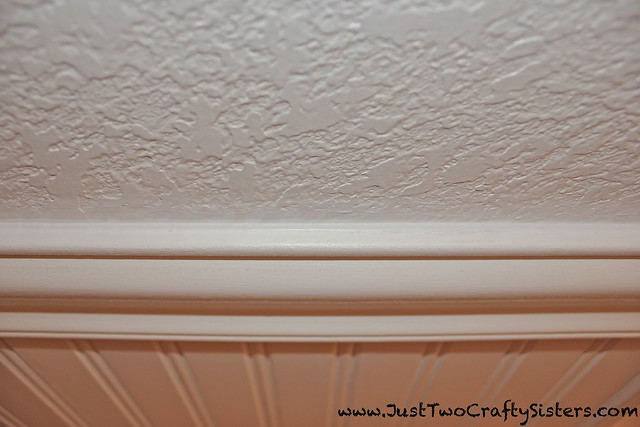 Beautiful new caulk line on wainscoating