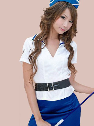 Header of airline hostess