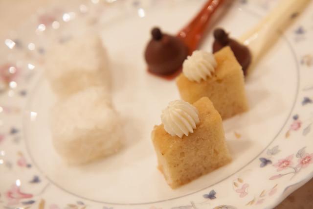 Three-spice pound cake, coconut marshmallows, espresso chocolate, Chikalicious