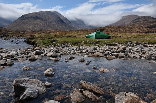 Camp at the entrance to Gleann an Lochain Duibh