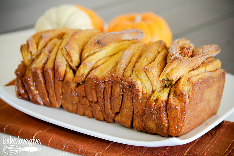 Pumpkin Spice Pull Apart Bread made from scratch