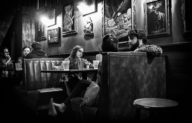 Illuminating bar conversations