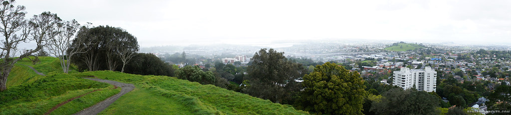 Panorama of city view from Mount Eden