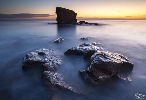 uk longexposure seascape sunrise dawn coast rocks north stack coastal northern northeast seatonsluice collywellbay charliesgarden steveclasper