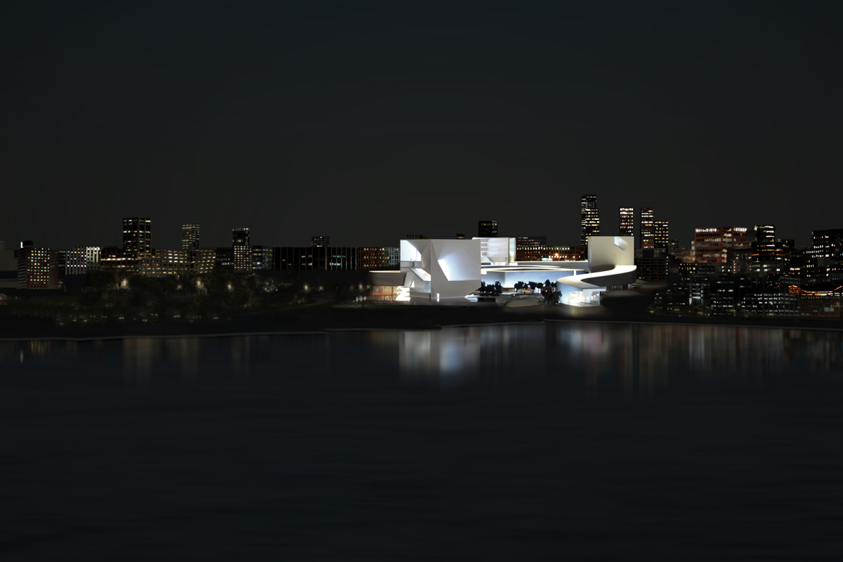 CULTURE AND ART CENTER OF QINGDAO CITY design by STEVEN HOLL ARCHITECTS
