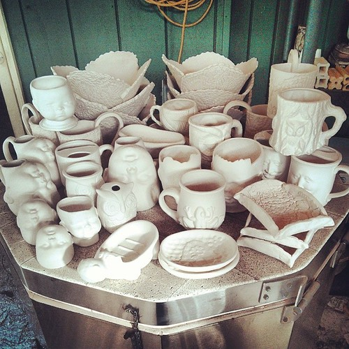 Fresh from the HaldeKiln #ceramics #kiln #bisque