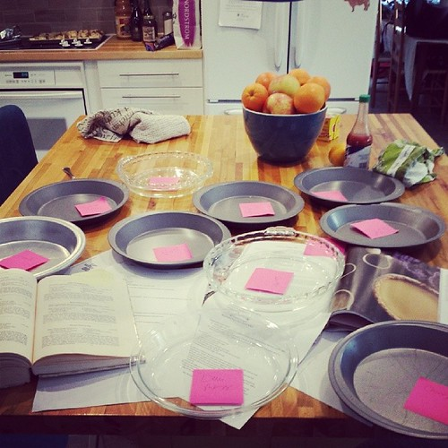 Preparations complete! Let the baking for the #FestivalOfPie commence!