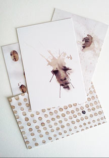 Coffee Art Postcards
