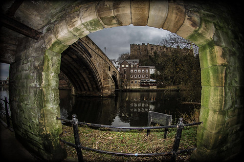 pictures street camera city uk bridge england fish reflection building eye water canon silver river that lens photography eos prime focus arch foto durham view angle image artistic pics north wide picture pic images wear east fisheye have reflect photographs photograph fotos 7d manual which span contain 65mm aspherical spanning opteka optekafisheye cwhatphotos optyeka