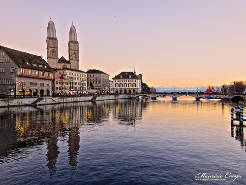 Sunset in Zurich