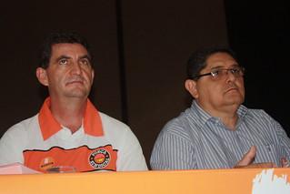 Diretor Valdir Pereira e Paçoca, da Executiva Estadual do Partido