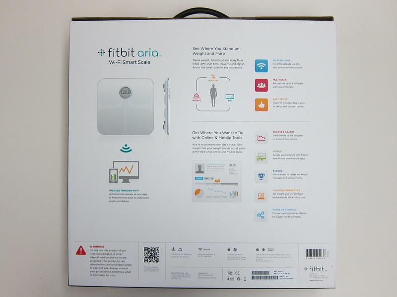 Fitbit Aria - Box Back