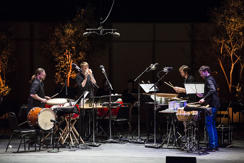 red fish blue fish perform works by John Cage and Lou Harrison at Libbey Bowl