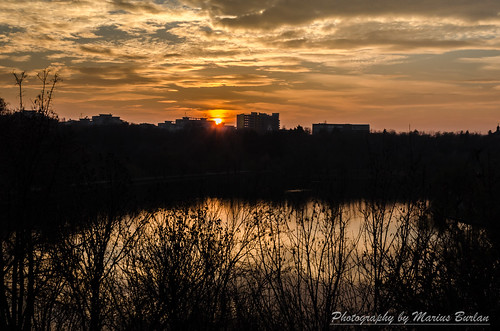 park city trees winter sunset sky urban cloud sun water silhouette clouds buildings dawn nikon autum romania apa parc bucharest nori copaci parcultineretului d5100 nikond5100 mariusburlan