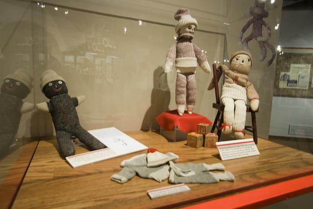 Sock Monkeys at Midway Village Museum in Rockford, Illinois