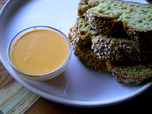 cheddar beer dip with oat soda bread