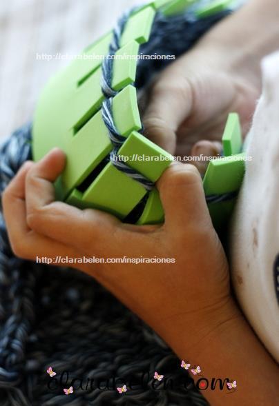 tejedora para niños de foami